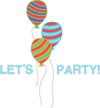 A party will look great with balloons fro decorations.