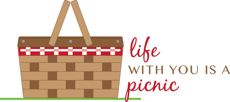 Simple design with basket Ilustracja
