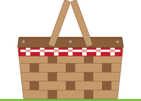 Simple design with basket Stock Illustratie