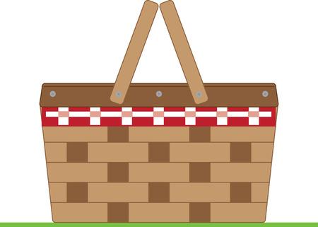 hamper: Simple design with basket Illustration