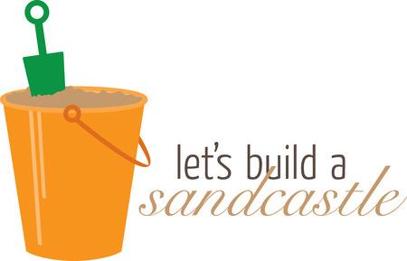 모래 양동이로 심플한 디자인 스톡 콘텐츠 - 42940301
