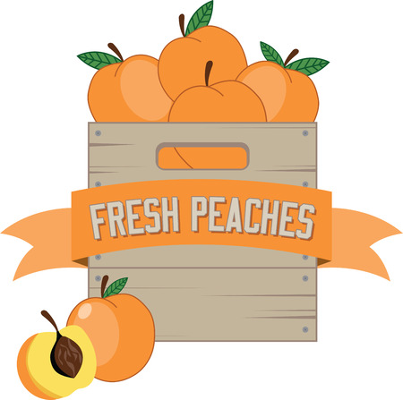 cling: Delicious peaches