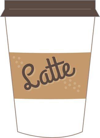 一杯のコーヒーでシンプルなデザイン