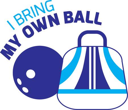 Vous recherchez le cadeau d'anniversaire parfait ou cadeau de Noël Broder cette conception sur les vêtements, serviettes, oreillers, sacs de sport, des couettes, des t-shirts, vestes ou des tentures murales pour vos amateurs de bowling! Banque d'images - 42989279