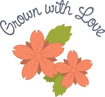 Spring flowers are a perfect design to cheer someone up.  Add this to a shirt made especially for them.