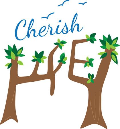 cherish: Fare ogni giorno un giorno terra con questo design eco-friendly in borse riutilizzabili di alimentari, felpe e altri doni.