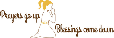 This praying girl is the perfect design for your Sunday School class.  Add this to a pillow to remind them to pray every night.