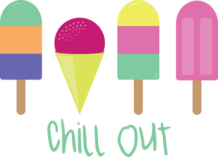 tratar: Stay cool este verão com este deleite frio gelo sobre toalhas de cozinha, toalhas de mesa e muito mais! Ilustração