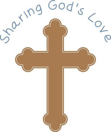 Dit ontwerp is perfect voor een verscheidenheid van religieuze thema projecten, zoals de Bijbel covers en bladwijzers, eerste communie geschenken en nog veel meer.