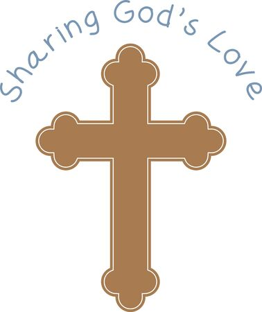 calvary: This design is perfect for a variety of religious-themed projects such as Bible covers and bookmarks, first communion gifts and more. Illustration