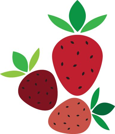 Create a splendid look for summer with tasty strawberries on place mats and linens!