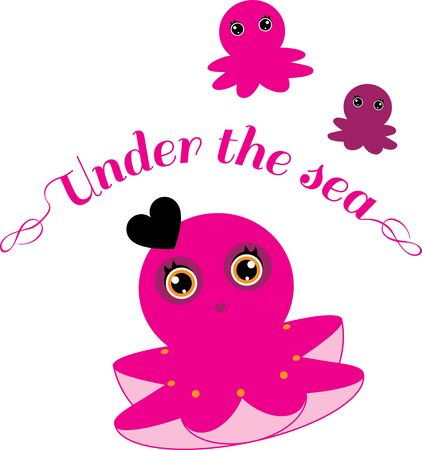 tentacle: An adorable animal is a wonderful decoration for a kids project.