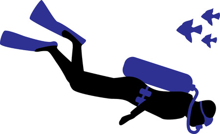Zwemmers zullen genieten van zwemmen versnelling met dit beeld op. Stock Illustratie