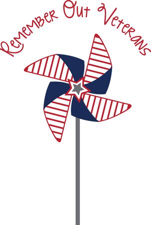 Pinwheels are great for summer garden decorating! Create a lovely splash of color to your garden, flower beds, and outdoor projects with this design. Illustration