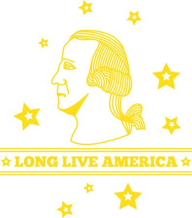 学校のプロジェクトでこのデザインとアメリカ合衆国の卓越した大統領のいずれかからインスピレーションを描く!  イラスト・ベクター素材