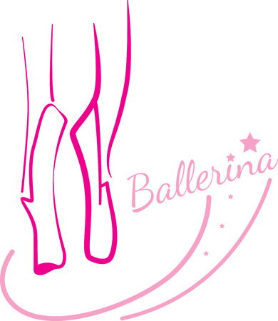 Awaken the dancer within.  This design is great to make unique gifts for your ballerinas!  Will look perfect on t-shirts, sweatshirts, totes and more!