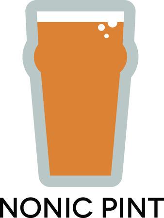 이 20 온스 비누 잔에 좋아하는 맥주를 맛보십시오. 일러스트
