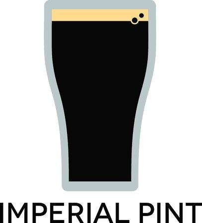 vasos de cerveza: Utilice este diseño imperial de la cerveza en el diseño de la camiseta.