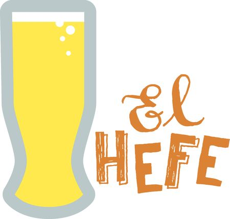 Use this Weizen Beer Glass for your wheat beer. Illustration