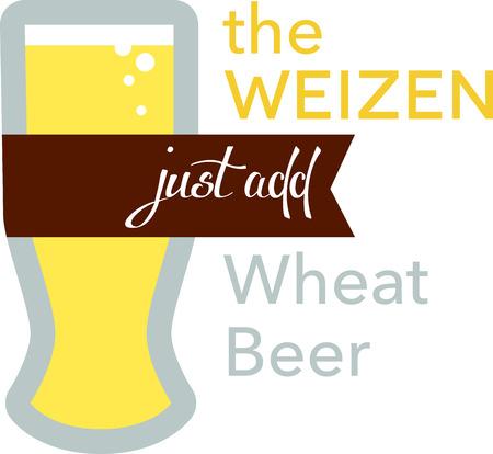 밀 맥주에이 Weizen Beer Glass를 사용하십시오.
