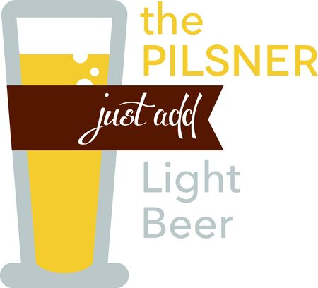 pilsner: Use this Pilsner Beer Glass for your t-shirt design.