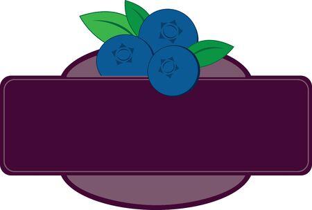 블루 베리로 여름철 블루스를 이겨보세요! 장소 매트와 리넨에이 디자인으로 여름을위한 멋진 표정을 만드십시오! 스톡 콘텐츠 - 42987563