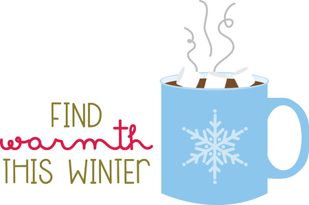 A cup of hot chocolate will warm up any winter project.