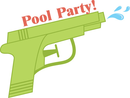 squirt: Water gun provides hours of fun in the sun on lazy summer days!  This design will be perfect on kids bedroom decor and clothing.