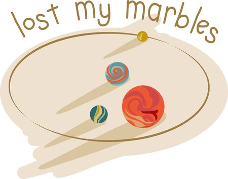 Kids love to play with marbles.