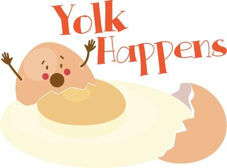 Mostra il tuo lato sciocco con un uovo rotto. Archivio Fotografico - 42987310