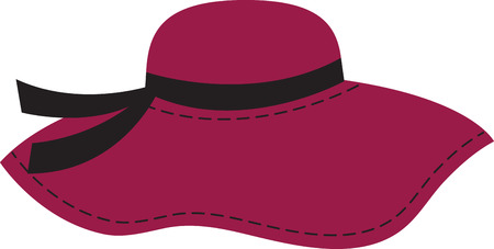 欲望: あなたの心の欲望にアクセサリーを付けます。 屋内のプロジェクトにこのドレッシーな帽子を取得し、あなたのスタイルに個性を追加!  イラスト・ベクター素材