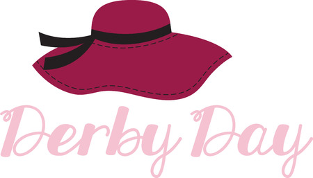 dressy: Accessorize to your hearts desire.  Get this dressy hat on your indoor projects and add personality to your style! Illustration