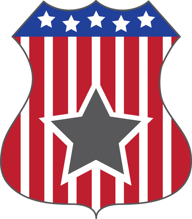 sigil: shield, crest, badge, sigil, shape, coat of arms, 4th of July, Fourth, Independence Day, patriotic, American, holiday, United States,   USA, stars  stripes, international,   caption