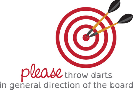 Looking for the perfect Birthday or Christmas gift Embroider this design on clothes, towels, pillows, gym bags, quilts, t-shirts, jackets or wall hangings for your dart enthusiast!
