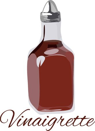 Vinegar is perfect to add to a salad.  Use this design on an apron for the kitchen.