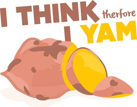 Gebakken yams zijn geweldig om te eten. Voeg dit gesneden yam aan theedoeken of schorten. Stockfoto - 43304507