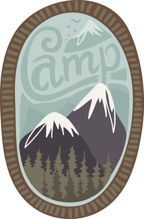 Mountains are beautiful places to visit.  Add this design to a shirt or hat to remember your vacation.