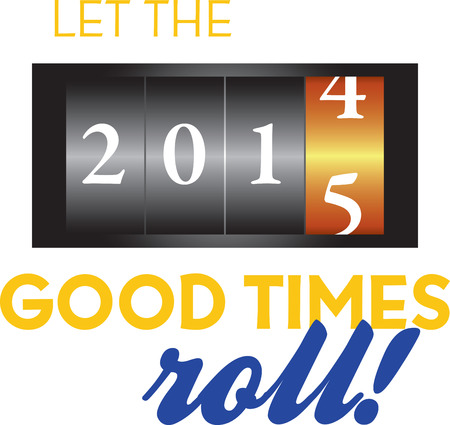 Celebrate the new year with a great countdown design. Ilustrace