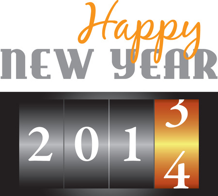 Celebrate the new year with a great countdown design. Иллюстрация