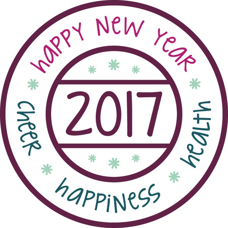 Celebrate the new year with a holiday wish. Иллюстрация