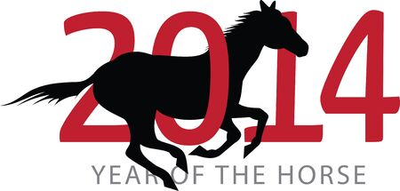 thoroughbred: Celebrate the Chinese new year with a year of the horse design.