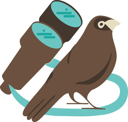 animal watching: The bird is powered by its own life and by its motivation.