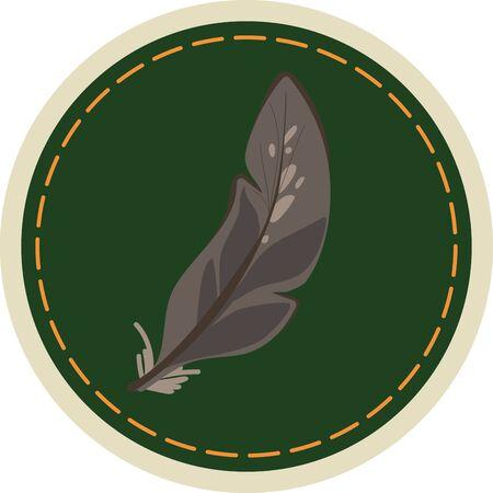무법의 새의 깃털 짝짓기.