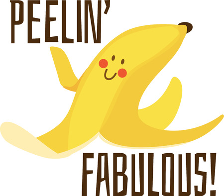 show off: Show off your silly side with a funny banana peel.