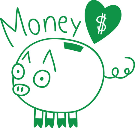 oink: A penny saved is a penny earned! This cute design will help teach children to save for a rainy day.