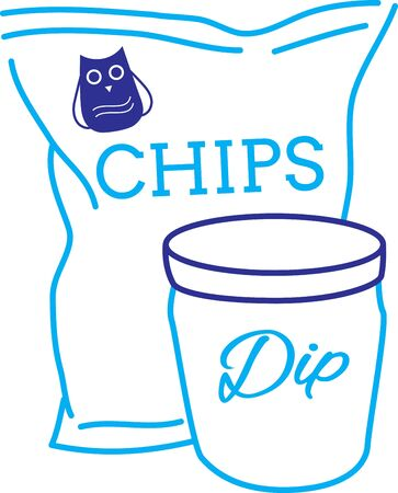 crisp: A popular food around Superbowl, get this design on kitchen linen, table mats and more!