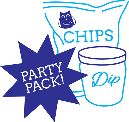 dip: A popular food around Superbowl, get this design on kitchen linen, table mats and more!