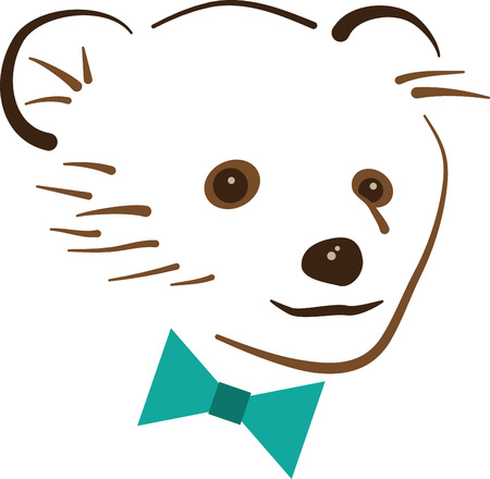 lovable: This huggable bear is looking spiffy with his bowtie.  A lovable design to make a perfect gift every time for any occasion!