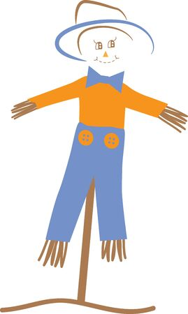 autumn scarecrow: Scarecrow Illustration
