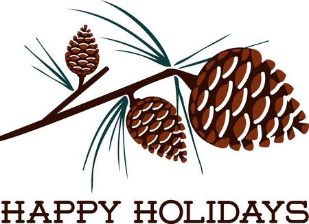 pine boughs: Decorating your home with these Christmas pine cone crafts design by embroidery patterns.